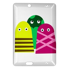 Three Mosters Amazon Kindle Fire Hd (2013) Hardshell Case by Valentinaart