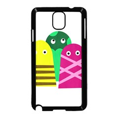 Three Mosters Samsung Galaxy Note 3 Neo Hardshell Case (black) by Valentinaart