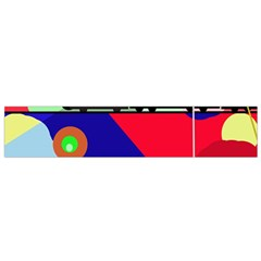 Abstract train Flano Scarf (Small) by Valentinaart
