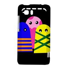 Three monsters HTC Vivid / Raider 4G Hardshell Case  by Valentinaart
