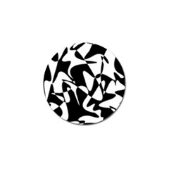 Black And White Elegant Pattern Golf Ball Marker (10 Pack) by Valentinaart