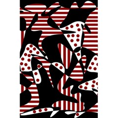Red, Black And White Abstraction 5 5  X 8 5  Notebooks by Valentinaart