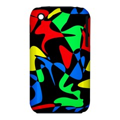 Colorful Abstraction Apple Iphone 3g/3gs Hardshell Case (pc+silicone) by Valentinaart