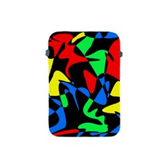 Colorful abstraction Apple iPad Mini Protective Soft Cases by Valentinaart