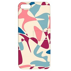 Blue, Pink And Purple Pattern Apple Iphone 5 Hardshell Case With Stand by Valentinaart