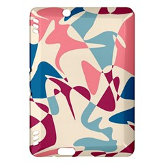 Blue, Pink And Purple Pattern Kindle Fire Hdx Hardshell Case by Valentinaart