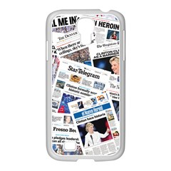 Hillary 2016 Historic Newspapers Samsung Galaxy S4 I9500/ I9505 Case (white) by uspoliticalhistory