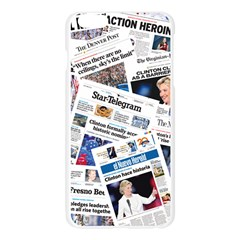 Hillary 2016 Historic Newspapers Apple Seamless iPhone 6 Plus/6S Plus Case (Transparent) by uspoliticalhistory