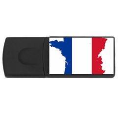 Flag Map Of France USB Flash Drive Rectangular (4 GB)