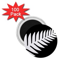 New Zealand Silver Fern Flag 1.75  Magnets (100 pack)  by abbeyz71