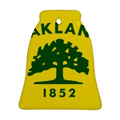 Flag Of Oakland, California Bell Ornament (2 Sides) by abbeyz71