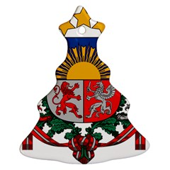 Coat Of Arms Of Latvia Christmas Tree Ornament (2 Sides) by abbeyz71