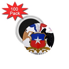 Coat Of Arms Of Chile  1 75  Magnets (100 Pack)  by abbeyz71