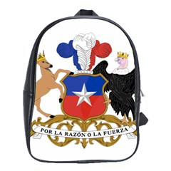 Coat Of Arms Of Chile  School Bags(large)  by abbeyz71