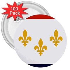 Flag Of New Orleans  3  Buttons (100 pack)  by abbeyz71