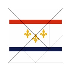 Flag Of New Orleans  Acrylic Tangram Puzzle (6  X 6 ) by abbeyz71