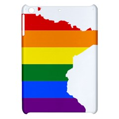 Lgbt Flag Map Of Minnesota  Apple iPad Mini Hardshell Case by abbeyz71