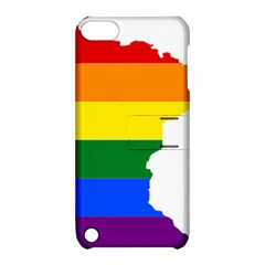 Lgbt Flag Map Of Minnesota  Apple Ipod Touch 5 Hardshell Case With Stand by abbeyz71