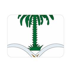Emblem Of Saudi Arabia  Double Sided Flano Blanket (mini)  by abbeyz71