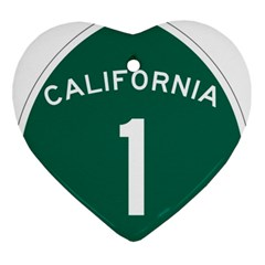 California 1 State Highway   Pch Ornament (heart)  by abbeyz71