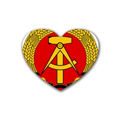 National Emblem Of East Germany  Heart Coaster (4 pack)  by abbeyz71