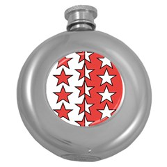 Coat Of Arms Of Valais Canton Round Hip Flask (5 oz) by abbeyz71