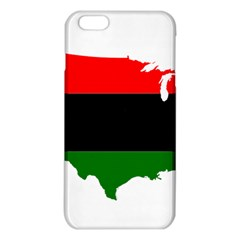 Pan Afrcian Flag Map Of Usa Iphone 6 Plus/6s Plus Tpu Case by abbeyz71