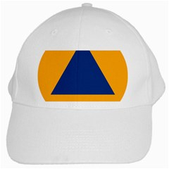 International Sign Of Civil Defense Roundel White Cap by abbeyz71