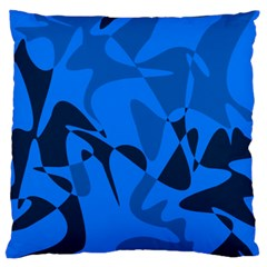 Blue Pattern Large Flano Cushion Case (two Sides) by Valentinaart