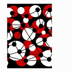 Red, Black And White Pattern Small Garden Flag (two Sides) by Valentinaart