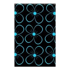 Blue Flowers Shower Curtain 48  X 72  (small)  by Valentinaart
