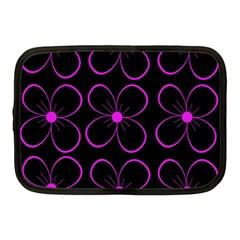 Purple floral pattern Netbook Case (Medium)  by Valentinaart