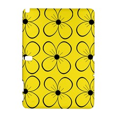 Yellow floral pattern Samsung Galaxy Note 10.1 (P600) Hardshell Case by Valentinaart