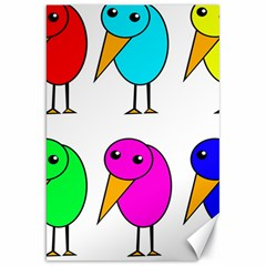 Colorful birds Canvas 20  x 30   by Valentinaart