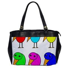 Colorful Birds Office Handbags by Valentinaart