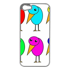 Colorful birds Apple iPhone 5 Case (Silver)