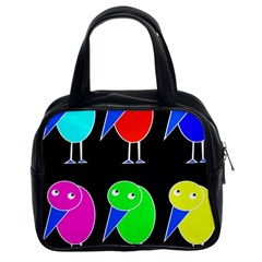 Colorful Birds Classic Handbags (2 Sides) by Valentinaart
