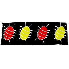 Red And Yellow Bugs Pattern Body Pillow Case (dakimakura) by Valentinaart