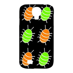 Green and orange bug pattern Samsung Galaxy S4 Classic Hardshell Case (PC+Silicone)