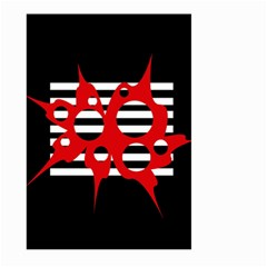 Red, Black And White Abstract Design Large Garden Flag (two Sides) by Valentinaart