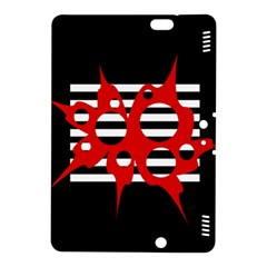 Red, Black And White Abstract Design Kindle Fire Hdx 8 9  Hardshell Case by Valentinaart