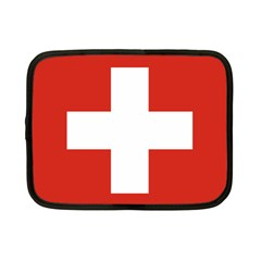 National Flag Of Switzerland Netbook Case (Small)  by abbeyz71