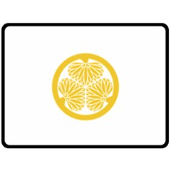 Tokugawa Family Crest Double Sided Fleece Blanket (Large)  by abbeyz71