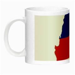 Flag Map Of Chile  Night Luminous Mugs by abbeyz71
