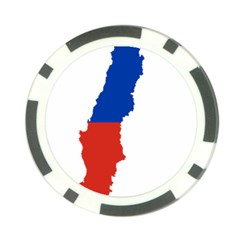 Flag Map Of Chile  Poker Chip Card Guards by abbeyz71