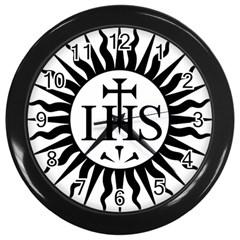 Society Of Jesus Logo (jesuits) Wall Clocks (Black) by abbeyz71