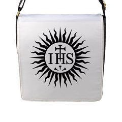 Society Of Jesus Logo (jesuits) Flap Messenger Bag (l)  by abbeyz71