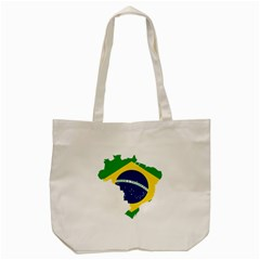 Flag Map Of Brazil  Tote Bag (cream) by abbeyz71