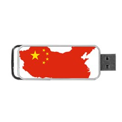 Flag Map Of China Portable Usb Flash (one Side) by abbeyz71
