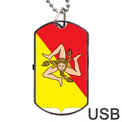 Coat Of Arms Of Sicily Dog Tag USB Flash (Two Sides)  by abbeyz71